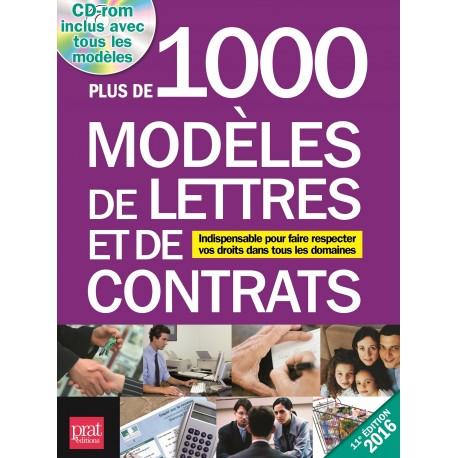 Plus de 1000 modèles de lettres et de contrats -  2016 (CD-rom inclus)