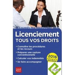 Licenciement - Tous vos droits (Ed. 2016)