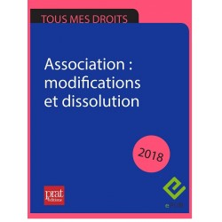 Association : modifications et dissolution 2018 - EPUB