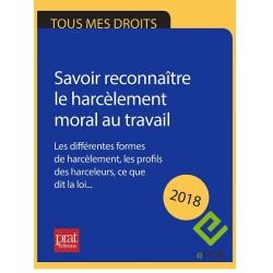 Savoir reconnaître le harcèlement moral au travail 2018 - EPUB