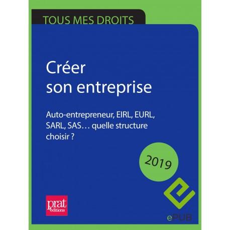 Créer son entreprise : auto-entrepreneur, EIRL, EURL, SARL, SAS… quelle structure choisir ? 2019 - EPUB