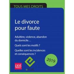 Le divorce pour faute. Adultère, violence, abandon du domicile… Quels sont les motifs ? 2019 - EPUB