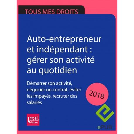Auto-entrepreneur et indépendant : gérer son activité au quotidien 2018 - EPUB